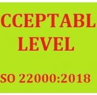 ISO 22000:2018 ĐK 8.5.2.2.3 XÁC ĐỊNH MỨC CHẤP NHẬP MỐI NGUY
